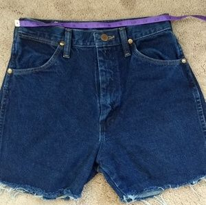 Wrangler high waist mom jean shorts